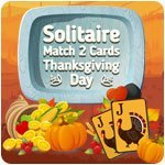 Solitaire - Match 2 Cards - Thanksgiving Day
