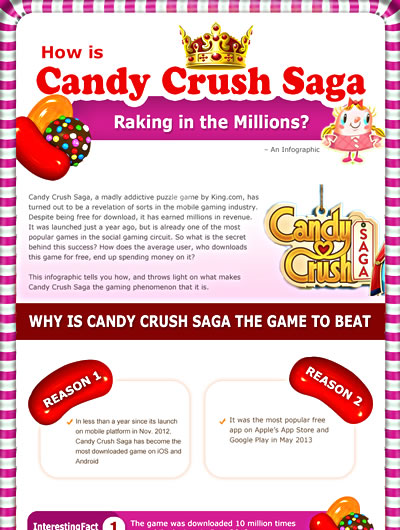 How is Candy Crush Saga Raking in the Millions? [INFOGRAPHIC]