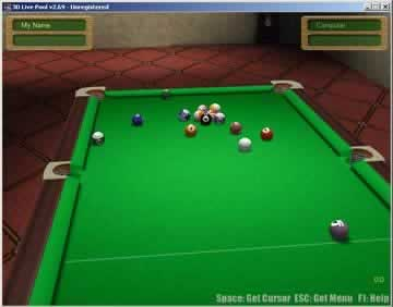 3D Live Pool - Screen 2