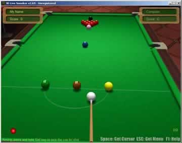 3D Live Snooker - Screen 2