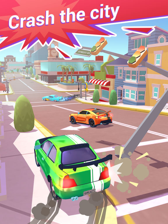 Crash Club - Drive & Smash City - Screen 1