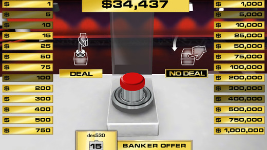 Deal or No Deal - Screen 2