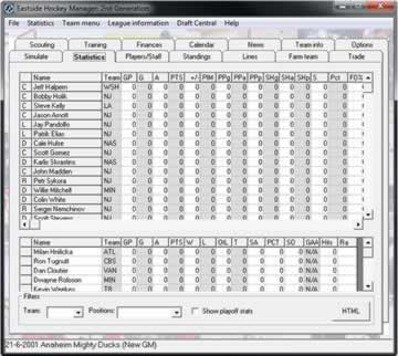 Eastside Hockey Manager - Screen 2