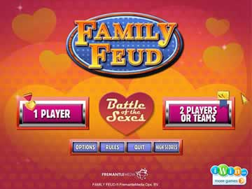 Family feud battle of the sexes online in Australia