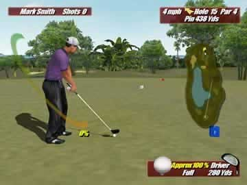 Leaderboard Golf - Screen 1