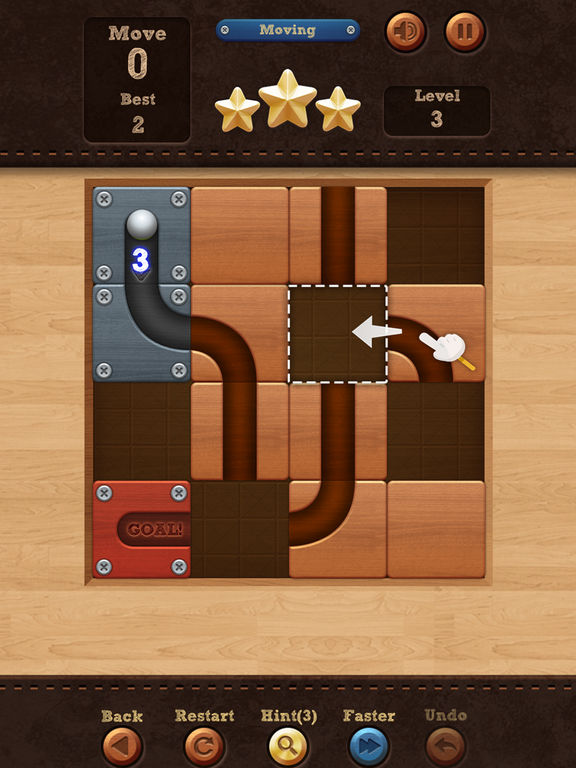 Roll the Ball - slide puzzle - Screen 1