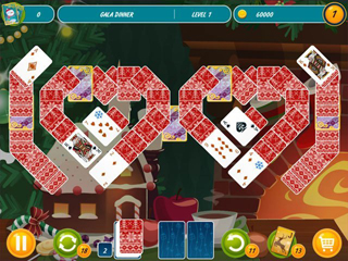 Solitaire Christmas - Match 2 Cards - Screen 1