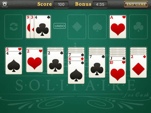 Solitaire for Cash - Screen 1