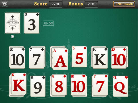 Solitaire for Cash - Screen 2