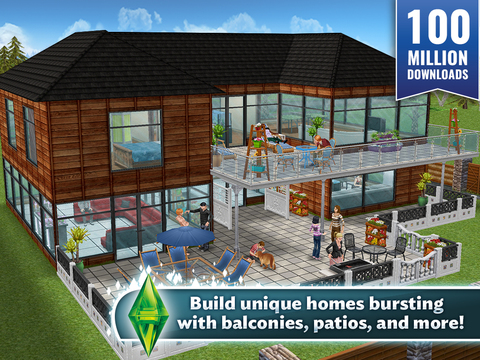 The SIMS FreePlay - Screen 1