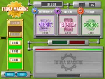Trivia Machine - Screen 1