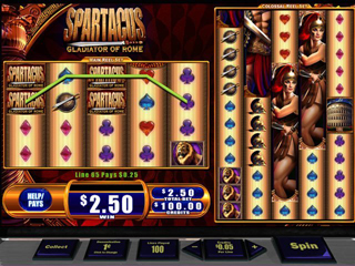 WMS Spartacus - Screen 1