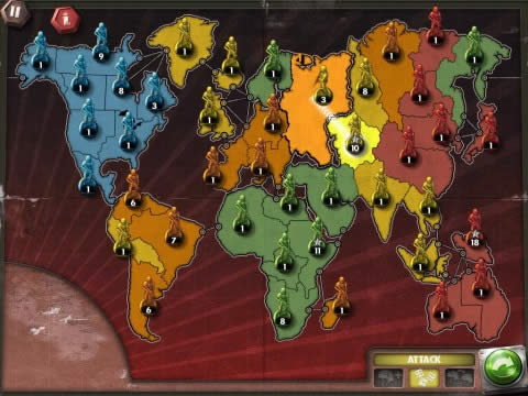 Risk armies attacking