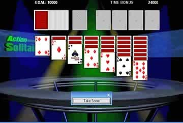 Action Solitaire - Screen 1