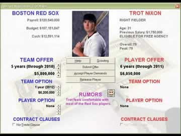 Baseball Mogul 2006 - Screen 1