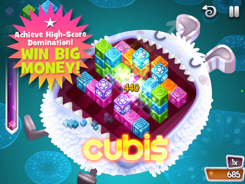 Cubis for Cash - Screen 1