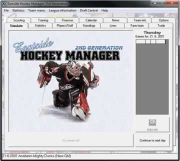 Eastside Hockey Manager - Screen 1