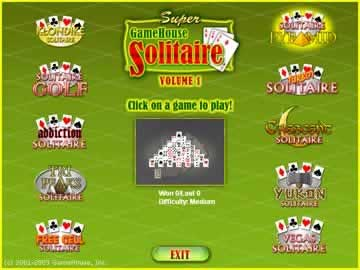 Gamehouse Solitaire Vol. 1 - Screen 1