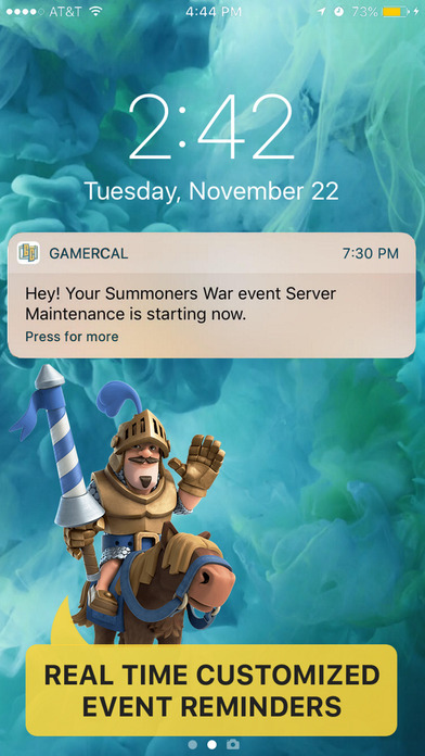 GamerCal - Gamer Guide Event Tracking + Tips - Screen 1