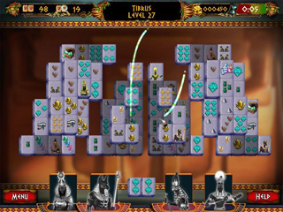 Mahjong: Ancient Pyramids - Screen 1