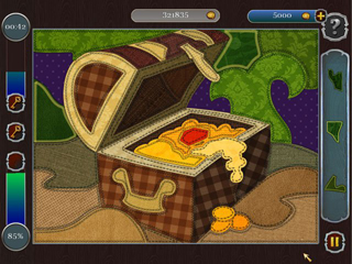 Pirate Mosaic Puzzle - Caribbean Treasures - Screen 2