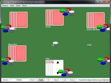 Quick Poker - Screen 1