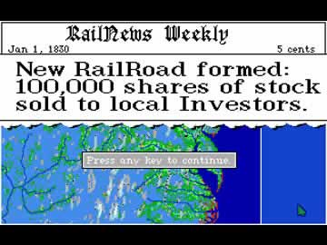 Railroad Tycoon - Screen 1