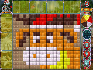 Rainbow Mosaics 10: Christmas Helper - Screen 1