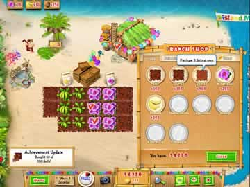Ranch Rush 2 - Sara's Island Experiment - Screen 1