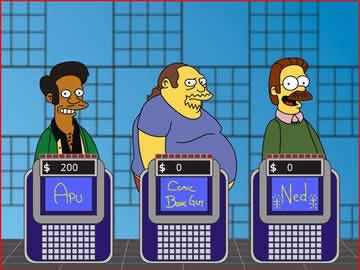 The Simpsons Jeopardy - Screen 1