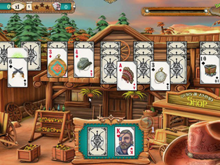 Solitaire Chronicles - Wild Guns - Screen 1