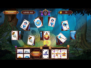 Solitaire. Elemental Wizards - Screen 1