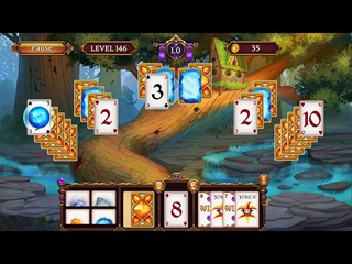 Solitaire. Elemental Wizards - Screen 2