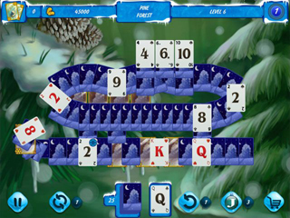Solitaire Jack Frost Winter Adventures 3 - Screen 1