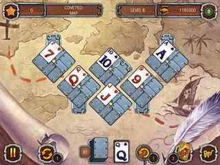 Solitaire Legend of the Pirates - Screen 1