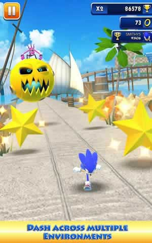 Sonic Dash - Screen 1