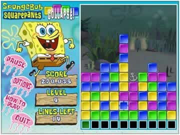 Sponge Bob Collapse - Screen 1