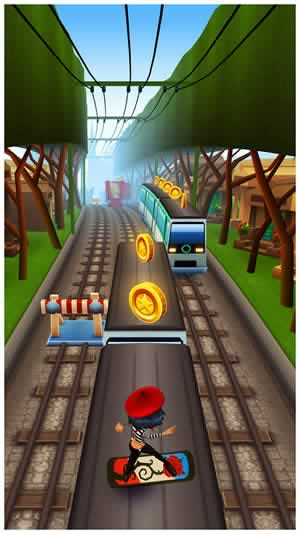 subway surf train game play online