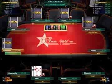 Texas Hold Em - Screen 1
