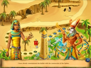 The Artifact of the Pharaoh Solitaire - Screen 2