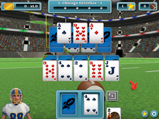 Touch Down Football Solitaire - Screen 1