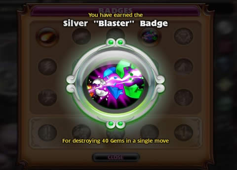 Bejeweled 3 Blaster Badge